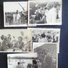 Cine: SIETE FOTOGRAFÍAS DEL RODAJE DE ORGULLO Y PASIÓN. 1957. Lote 219263786