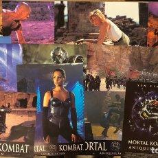 Cinema: MORTAL KOMBAT ANIQUILACIÓN. SET DE FOTOCROMOS COMPLETO (12) + GUÍA PUBLICITARIA DE LA PELÍCULA. 1997. Lote 219334206