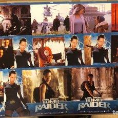 Cine: LARA CROFT TOMB RAIDER (ANGELINA JOLIE). SET COMPLETO CON 12 FOTOCROMOS. 2001.. Lote 219336393