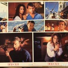 Cine: CALMA TOTAL (DEAD CALM) (1989). SET COMPLETO CON 8 FOTOCROMOS DE U.S.A. NICOLE KIDMAN,.... Lote 219408552