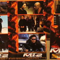 Cine: MISIÓN IMPOSIBLE 2 (2000). SET COMPLETO CON 8 FOTOCROMOS + GUÍA PUBLICITARIA. TOM CRUISE. Lote 219411180
