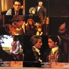 Cine: ENTREVISTA CON EL VAMPIRO (1994). SET DE 10 FOTOCROMOS. TOM CRUISE, BRAD PITT, ANTONIO BANDERAS,... Lote 219417777