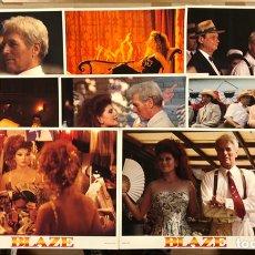Cine: BLAZE (EL ESCÁNDALO BLAZE) (1989). SET COMPLETO CON 8 FOTOCROMOS PROMOCIONALES U.S.A. PAUL NEWMAN. Lote 219502013