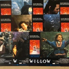 Cine: WILLOW (1988). SET COMPLETO 12 FOTOCROMOS. GEORGE LUCAS, RON HOWARD.. Lote 219519796