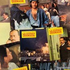 Cine: LA CIUDAD QUEMADA (1976). SET COMPLETO CON 12 FOTOCROMOS. SERRAT, J.L. VÁZQUEZ, ANGELA MOLINA,... Lote 219524667