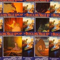 Cine: EN BUSCA DEL VALLE ENCANTADO (1988). JUEGO COMPLETO DE 12 FOTOCROMOS. LUCAS, SPIELBERG,.... Lote 219556511