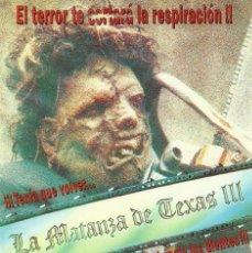 Cine: LA MATANZA DE TEXAS III. Lote 219961067