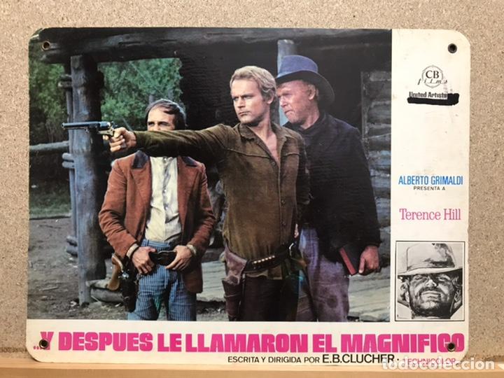 Cine: Y DESPUES LE LLAMARON EL MAGNIFICO, TERENCE HILL - SET 8 FOTOCROMOS DE CARTON - Foto 2 - 219977071