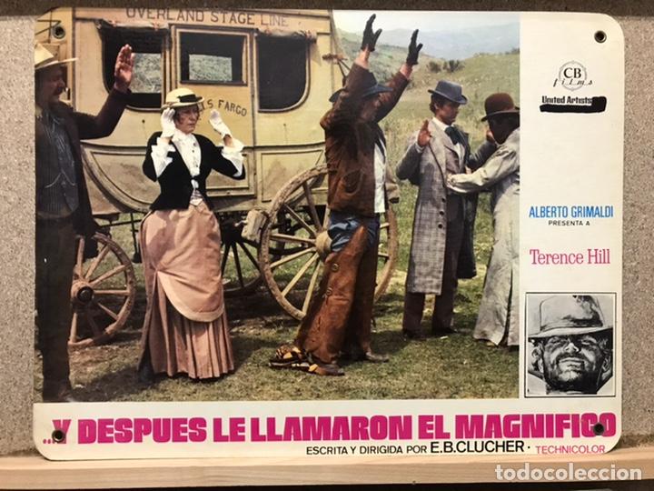 Cine: Y DESPUES LE LLAMARON EL MAGNIFICO, TERENCE HILL - SET 8 FOTOCROMOS DE CARTON - Foto 4 - 219977071