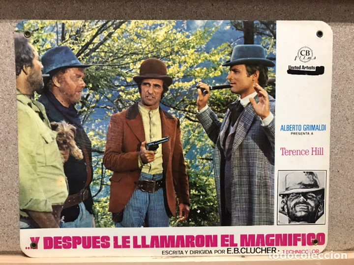 Cine: Y DESPUES LE LLAMARON EL MAGNIFICO, TERENCE HILL - SET 8 FOTOCROMOS DE CARTON - Foto 8 - 219977071