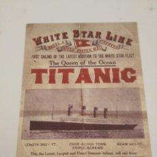 Cine: TITANIC - WHITE STAR LINE. Lote 220799611