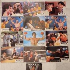 Cinéma: 12 FOTOCROMOS - ROCKY III -. Lote 222393556