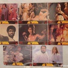 Cine: 8 FOTOCROMOS - LA FUERZA DEL DRAGÓN -. Lote 222548546