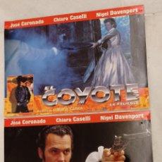 Cine: 2 FOTOCROMOS - EL COYOTE - JOSÉ CORONADO. CALIDAD FOTOGRÁFICA. Lote 222635787