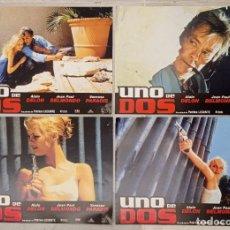 Cine: 4 FOTOCROMOS - UNO DE DOS - ALAIN DELON. Lote 222658520