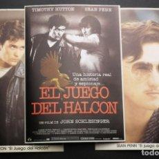 Cine: EL JUEGO DEL HALCÓN. TIMOTHY HUTTON - SEAN PENN TRES POSTALES YO AMO EL CINE. Lote 222714441