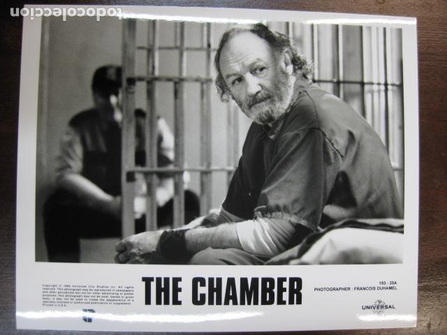 GENE HACKMAN - FOTO ORIGINAL B/N - THE CHAMBER CAMARA SELLADA (Cine - Fotos, Fotocromos y Postales de Películas)