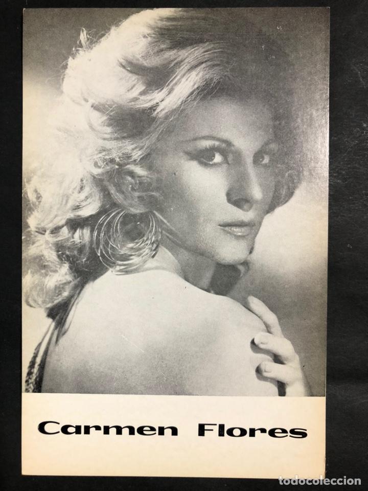 TARJETA PROMOCIONAL DE CARMEN FLORES 15,5 X 10 CM (Cine - Fotos y Postales de Actores y Actrices)