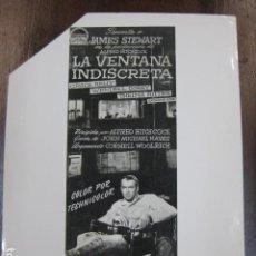 Cinema: LA VENTANA INDISCRETA - FOTO B/N ORIGINAL - JAMES STEWART GRACE KELLY HITCHCOCK. Lote 223613530