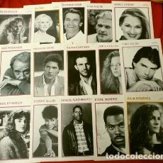 Cine: LOTE 15 FOTO FICHAS ACTORES ACTRICES DE CINE AÑOS 80 AL DORSO BIOGRAFIA - TAMAÑO: 13 X 18 CM - KOBAL. Lote 224225960