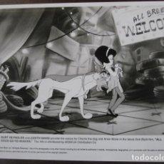 Cinéma: TODOS LOS PERROS VAN AL CIELO - FOTO ORIGINAL B/N - DON BLUTH ALL DOGS GO TO HEAVEN. Lote 224504025