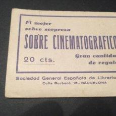 Cine: SOBRE SORPRESA CINEMATOGRAFICO - (LOS FAVORITOS DE LA PANTALLA) - 24 RETRATOS Y BIOGRAFÍAS. Lote 225489695