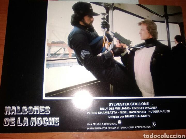 SYLVESTER STALLONE-HALCONES DE LA NOCHE-FOTOCROMO ORIGINAL ESTRENO-LOBBY CARDS- (Cine - Fotos, Fotocromos y Postales de Películas)