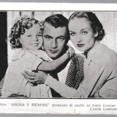 Cine: T - SHIRLEY TEMPLE - SERIE A Nº 6 - AHORA Y SIEMPRE - CAROLE LOMBARD - GARY COOPER. Lote 228695340