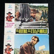 """Cine: LOBBY CARDS,""""EL BUENO EL FEO Y EL MALO""""(CLINT EASTWOOD, ELI WALLACH). Lote 230101535"""