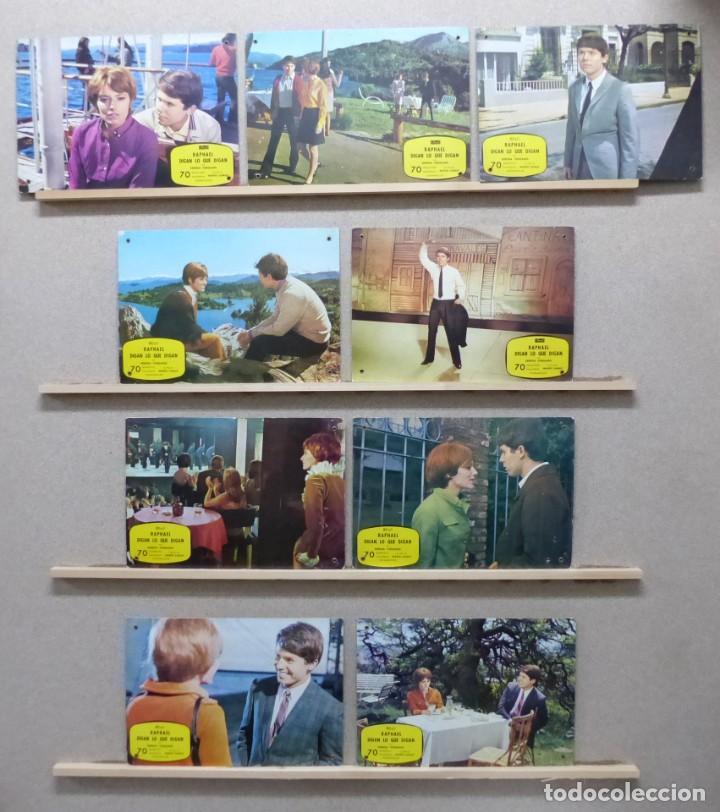 RAPHAEL, DIGAN LO QUE DIGAN, SERENA VERGANO - SET 9 FOTOCROMOS DE CARTON (Cine - Fotos, Fotocromos y Postales de Películas)