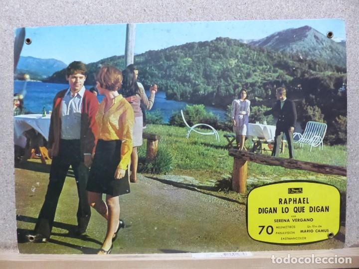 Cine: RAPHAEL, DIGAN LO QUE DIGAN, SERENA VERGANO - SET 9 FOTOCROMOS DE CARTON - Foto 3 - 234342035