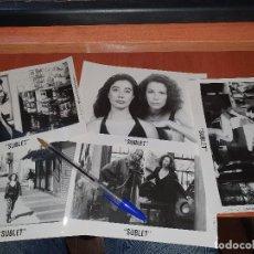 Cine: SUBLET, CHUS GUTIERREZ, FOTOGRAFIAS ORIGINALES, ICIAR BOLLAIN, 1991, 17,5 X 12 CM.. Lote 235842270