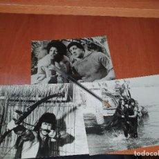 Cine: SYLVESTER STALLONE, EN ROCKY Y RAMBO, 3 FOTOGRAFIAS, 17,5 X 12 CM.. Lote 235895450