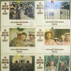 Cine: CG27D PAPILLON STEVE MCQUEEN DUSTIN HOFFMAN SET 8 FOTOCROMOS ORIGINAL AMERICANO. Lote 236028920