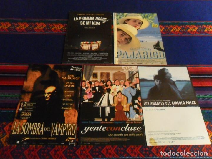LA SOMBRA DEL VAMPIRO,PRIMERA NOCHE DE MI VIDA, PAJARICO, GENTE CON CLASE, LOS AMANTES CÍRCULO POLAR (Cine - Fotos, Fotocromos y Postales de Películas)
