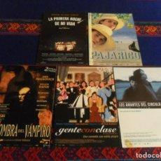 Cine: LA SOMBRA DEL VAMPIRO,PRIMERA NOCHE DE MI VIDA, PAJARICO, GENTE CON CLASE, LOS AMANTES CÍRCULO POLAR. Lote 236959455