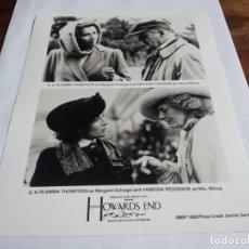 Cine: REGRESO A HOWARDS END - EMMA THOMPSON, ANTHONY HOPKINS, VANESSA REDGRAVE - FOTO ORIGINAL AÑO 1992. Lote 238661245