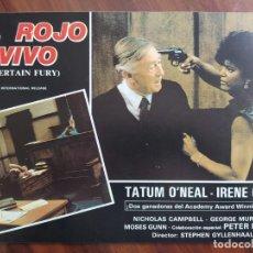 Cine: AL ROJO VIVO (CERTAIN FURY), 1985 - 12 FOTOCROMOS - LOBBY CARDS - PELÍCULA - MOVIE. Lote 238766910