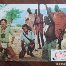 Cine: EN LA SOMBRA DEL KILIMANJARO, 1986 - 8 FOTOCROMOS - LOBBY CARDS - PELÍCULA - MOVIE. Lote 238776290