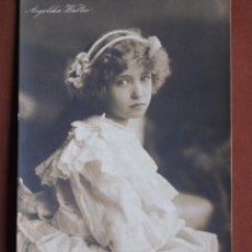 Cine: POSTAL NIÑA PRODIGIO ANGELIKA WALTER 1907. ESCRITA Y FRANQUEADA GGC 413/5. Lote 238809715