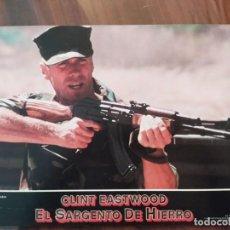 Cine: EL SARGENTO DE HIERRO (HEARTBREAK RIDGE), 1986 - 8 FOTOCROMOS - LOBBY CARDS - PELÍCULA - MOVIE. Lote 238859120
