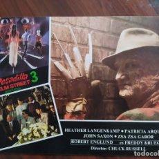 Cine: PESADILLA EN ELM STREET 3 (A NIGHTMARE ON ELM STREET 3), 1987 - 11 FOTOCROMOS - LOBBY CARDS - MOVIE. Lote 239457415