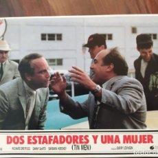 Cine: DOS ESTAFADORES Y UNA MUJER (TIN MEN), 1987 - 11 FOTOCROMOS - PELÍCULA - LOBBY CARDS - MOVIE. Lote 239483540