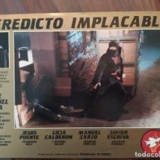 Cine: VEREDICTO IMPLACABLE, 1987 - 9 FOTOCROMOS - PELÍCULA - LOBBY CARDS - MOVIE. Lote 239488485
