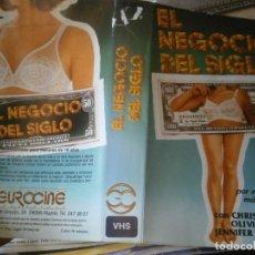 Cinema: EL NEGOCIO DEL SIGLO, CARATULA DE VIDEOCLUB ORIGINAL. (SOLO CARATULA). Lote 239642250