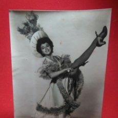 Cine: PRECIOSA FOTOGRAFIA 1955 ,ACTRIZ JOAN COLLINS ,LA MUCHACHA DEL TRAPECIO ROJO. Lote 242169540