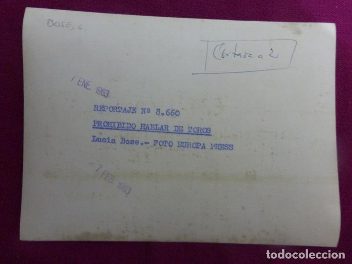 Cine: ANTIGUA FOTO FOTOGRAFÍA ORIGINAL DE PRENSA EUROPA PRESS-ACTRIZ LUCÍA BOSÉ-ORIGINAL 1963 - Foto 2 - 243269855