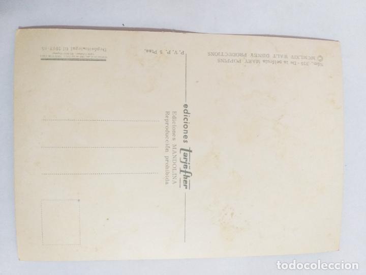 Cine: Postal de la película Mary Poppins de Walt Disney. Año 1965. Ediciones Tarje-Fher. # 325. - Foto 2 - 289691078