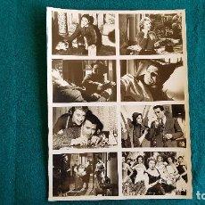 Cine: FOTOGRAFIA CON DIVERSAS ESCENAS PELICULA ESCANDALO EN MILAN (FICHA TEC. AL DORSO) FOTO - RW. Lote 244855985