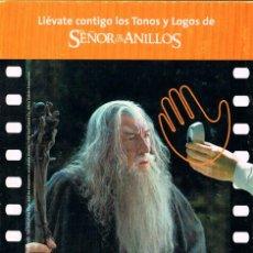 Cine: EL SEÑOR DE LOS ANILLOS (POSTAL). Lote 245065915